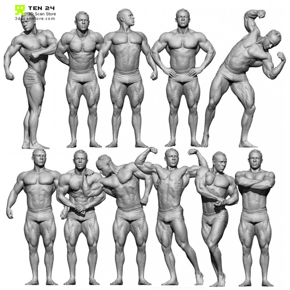 Bodybuilder Bundle Render Scene
