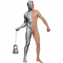 3d Male Body Model Mixed Poses  Colour Male Body 3d Scans