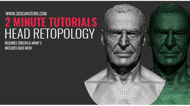 2 Minute Tutorial - Head Retopology for cleanup