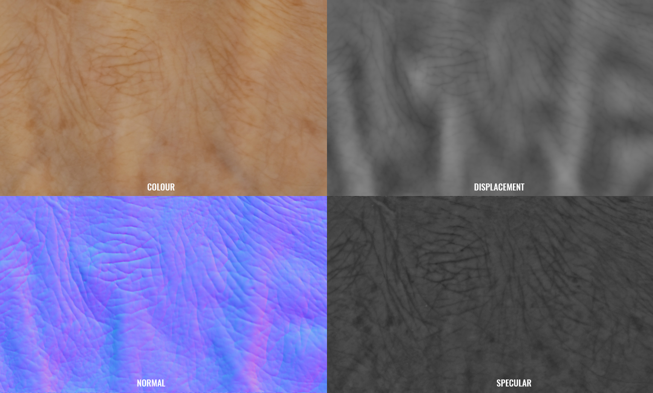 PBR hand textures