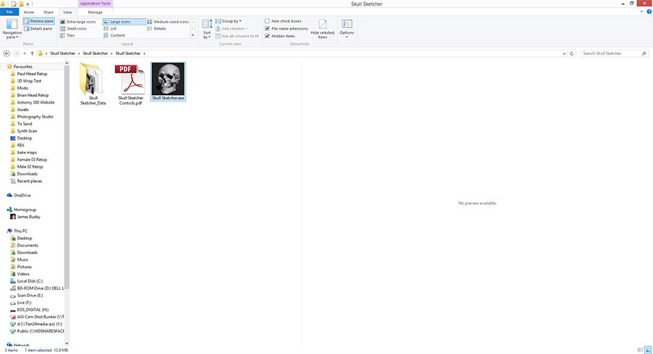 Gallery of click the skull sketcherexe to run the for My sketcher gratuit