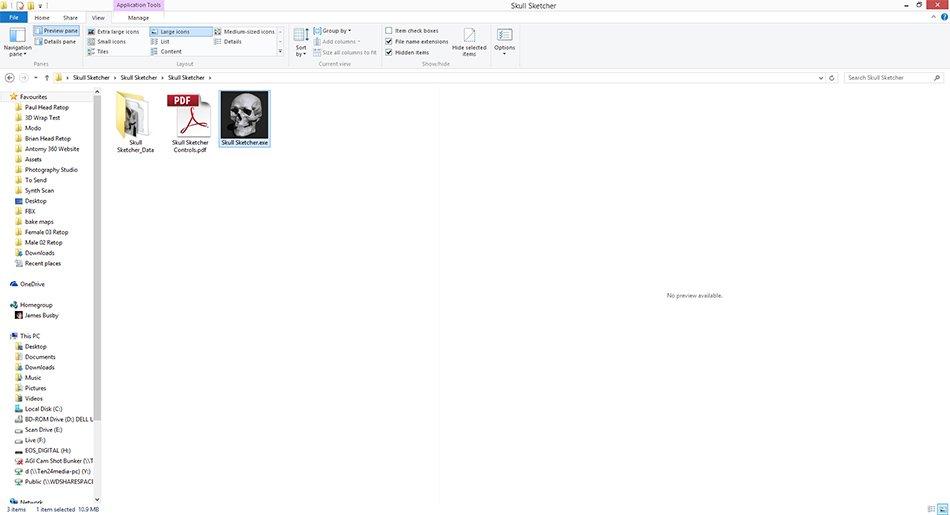 Skull Sketcher Resource Download | 3dscanstore com
