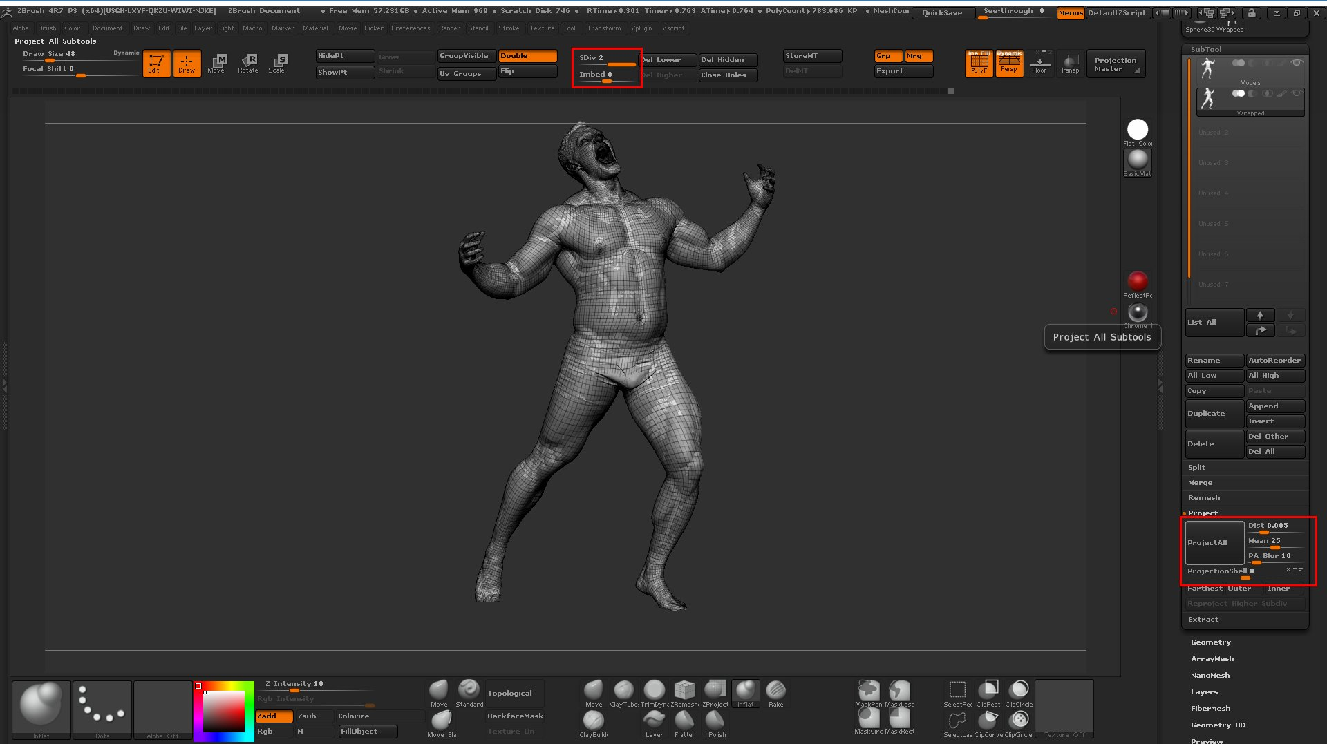Retopologising 3D Scans with Wrap 3