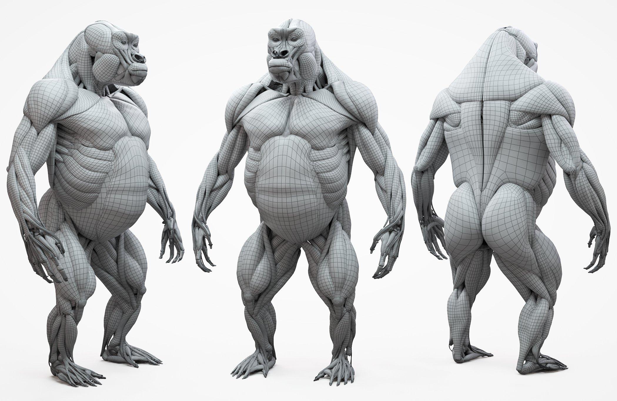 3D Gorilla Mesh Download