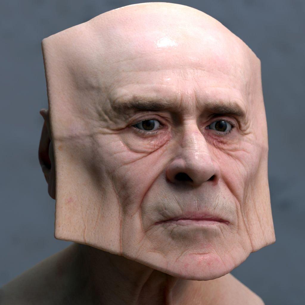 deformed face man - 736×736